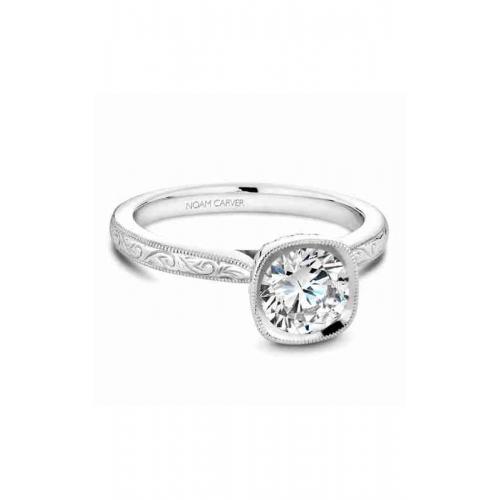 Noam Carver Bezel Engagement ring B140-13WME product image