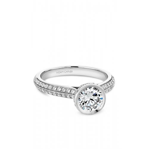 Noam Carver Bezel Engagement ring B144-12WM product image