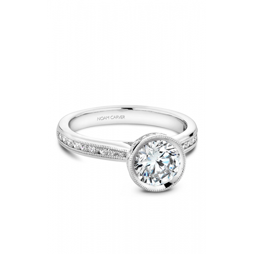 Noam Carver Bezel Engagement ring B145-12WM product image