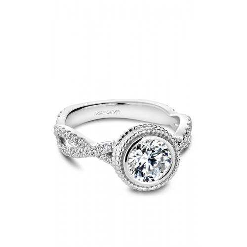 Noam Carver Bezel Engagement ring R010-01WM product image