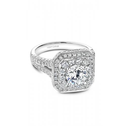 Noam Carver Halo Engagement ring B158-01WZ product image