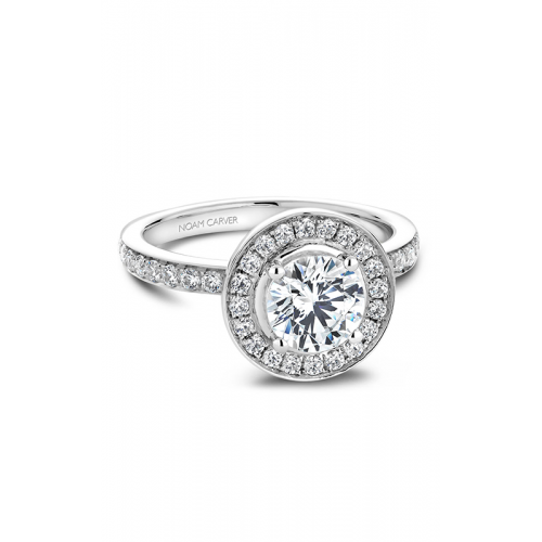 Noam Carver Halo Engagement ring B023-01WS product image