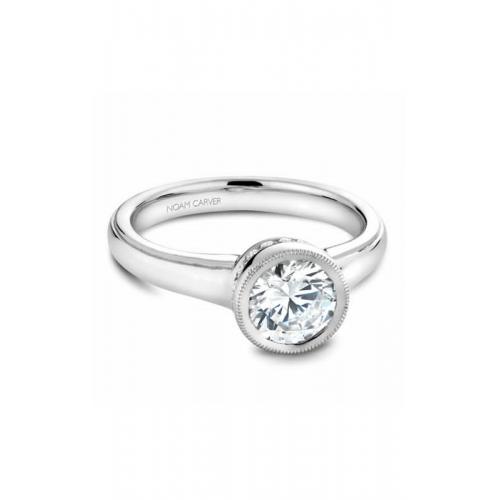 Noam Carver Bezel Engagement ring B025-01WS product image