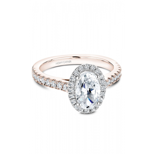 Noam Carver Halo Engagement ring B029-03RWS product image