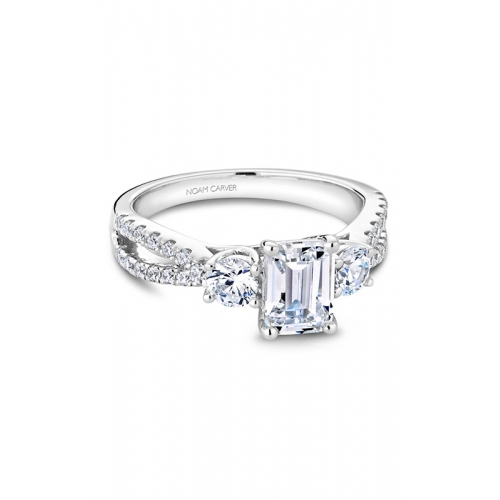 Noam Carver 3 Stone Engagement ring B219-01WS product image