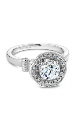 Noam Carver Engagement Ring Floral B014-01WM product image