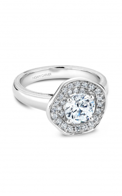 Noam Carver Floral Engagement Ring B014-03WM product image