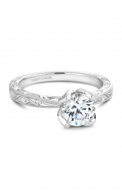 Noam Carver Engagement Ring Floral B019-02WME product image