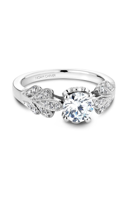 Noam Carver Engagement Ring Floral B063-01WM product image