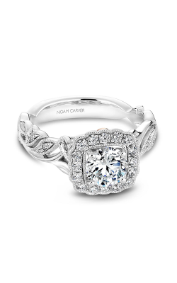 Noam Carver Engagement Ring Floral B075-01WM product image