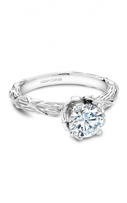 Noam Carver Engagement Ring Floral B081-01WM product image