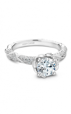 Noam Carver Engagement Ring Floral B081-02WM product image