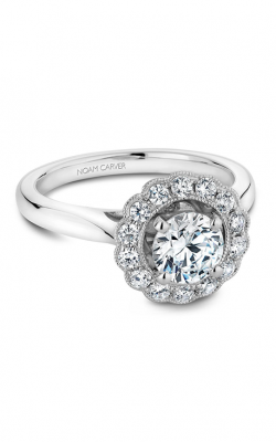 Noam Carver Engagement Ring Floral B086-01WM product image