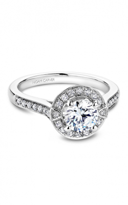 Noam Carver Floral Engagement Ring B066-01WM product image