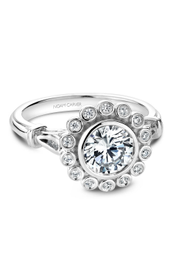 Noam Carver Engagement Ring Floral B170-01WM product image