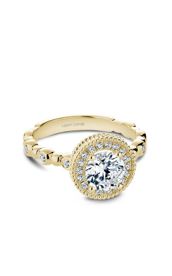 Noam Carver Halo Engagement Ring R024-01YM product image