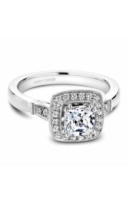 Noam Carver Halo Engagement Ring B067-01WM product image
