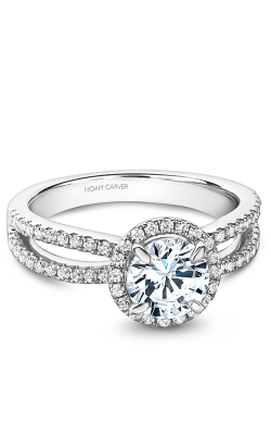 Noam Carver Halo Engagement ring B235-02WS product image