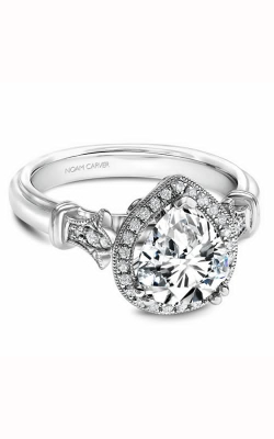 Noam Carver Engagement Ring Floral B076-03WM product image