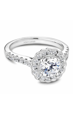 Noam Carver Engagement Ring Floral B150-01WM product image