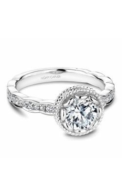 Noam Carver Floral Engagement Ring R003-01WM product image