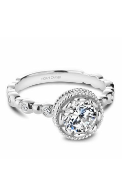 Noam Carver Engagement Ring Floral R004-01WM product image