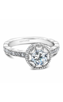 Noam Carver Floral Engagement Ring R013-01WM product image