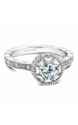 Noam Carver Engagement Ring Floral R013-01WM product image
