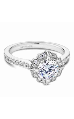 Noam Carver Engagement Ring Floral R031-01WM product image