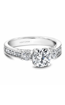 Noam Carver 3 Stone Engagement Ring B195-01WM product image