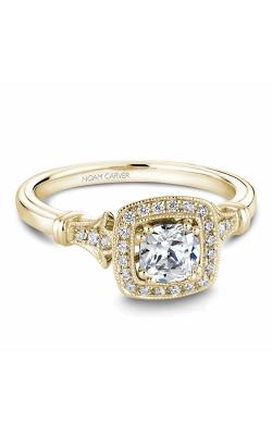 Noam Carver Halo Engagement ring B076-01YS product image