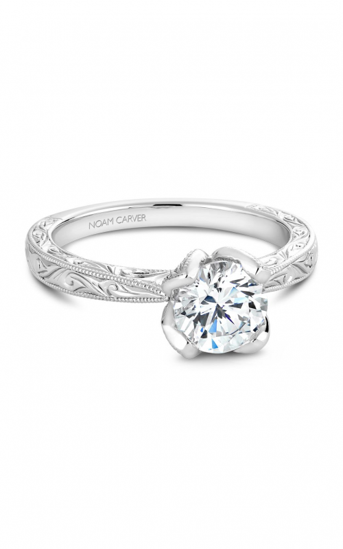 Noam Carver Floral Engagement ring B019-02EA product image