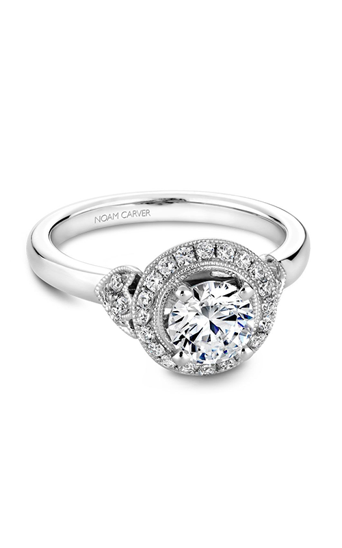Noam Carver Floral Engagement ring B072-01WM product image