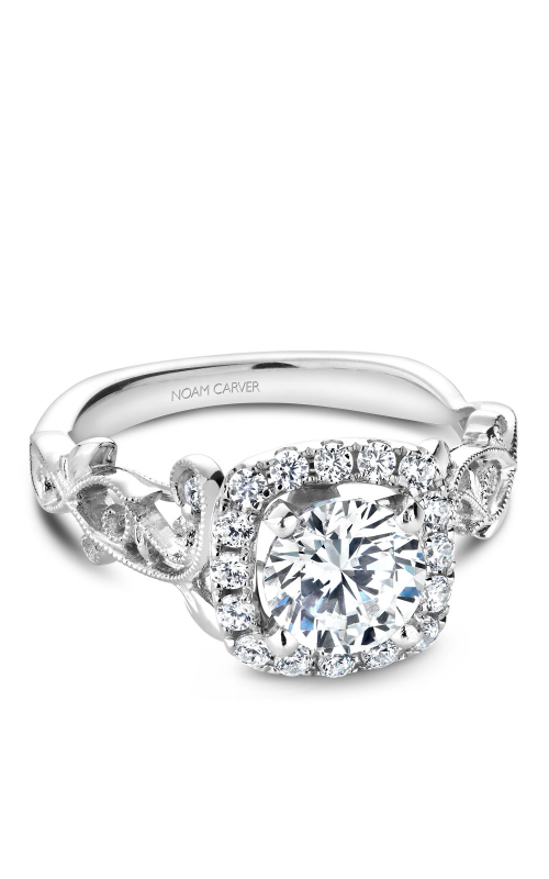 Noam Carver Floral Engagement Ring B151-01WM product image
