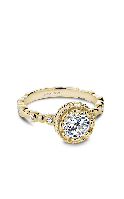 Noam Carver Floral Engagement ring R004-01YM product image