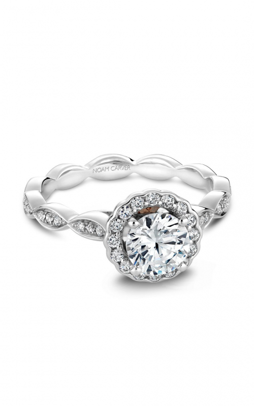 Noam Carver Floral Engagement ring B085-01YM product image