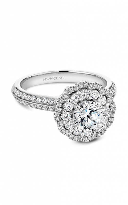 Noam Carver Floral Engagement ring B144-16WM product image