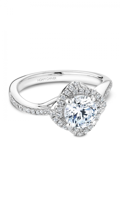 Noam Carver Floral Engagement Ring B176-01WM product image