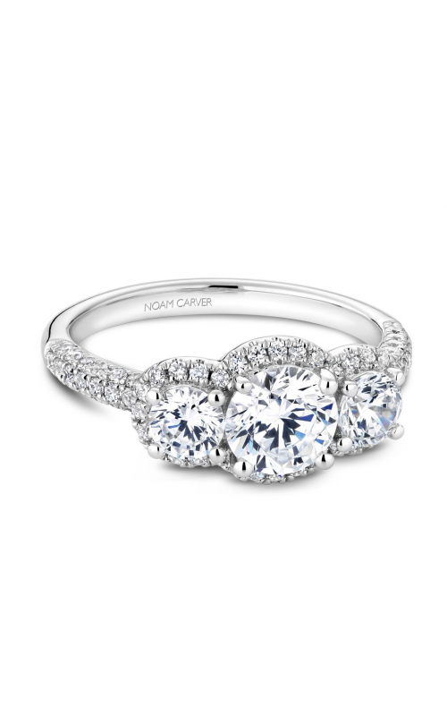 Noam Carver 3 Stone Engagement ring B184-01WM product image