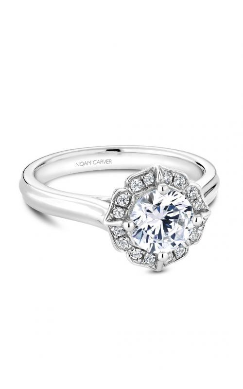 Noam Carver Floral Engagement ring R030-01WM product image