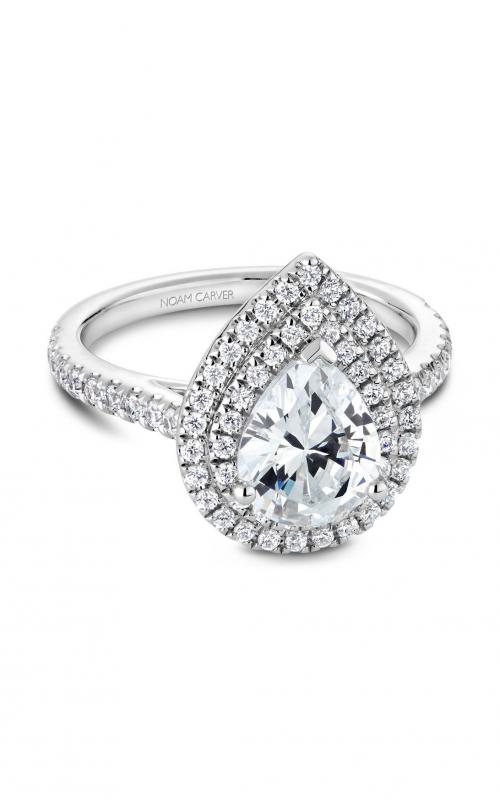 Noam Carver Halo Engagement ring R051-03WM product image
