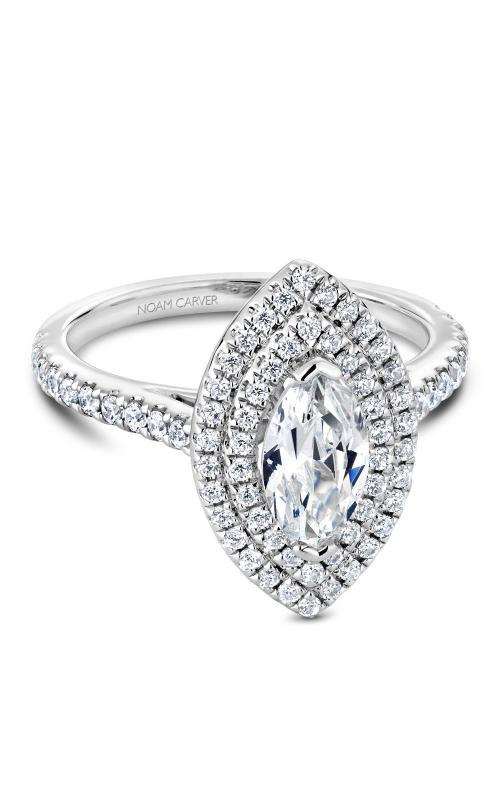 Noam Carver Halo Engagement Ring R051-07WM product image