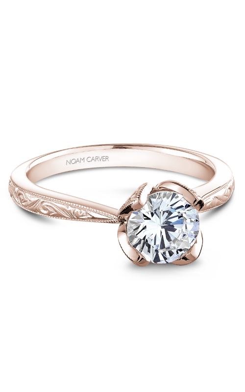 Noam Carver Floral Engagement ring B019-03RME product image