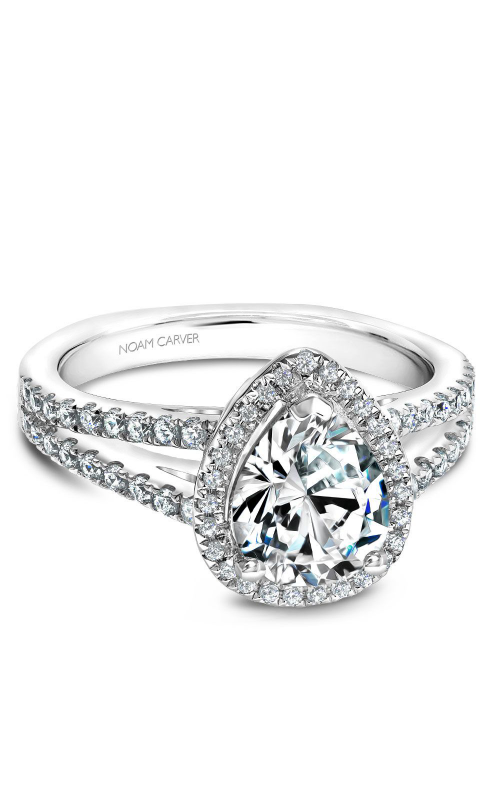 Noam Carver Halo Engagement ring B015-04WM product image