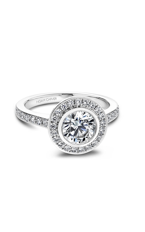 Noam Carver Halo Engagement ring B013-01WM product image