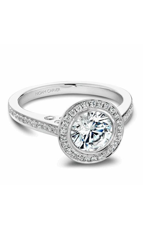 Noam Carver Halo Engagement ring B016-01WM product image