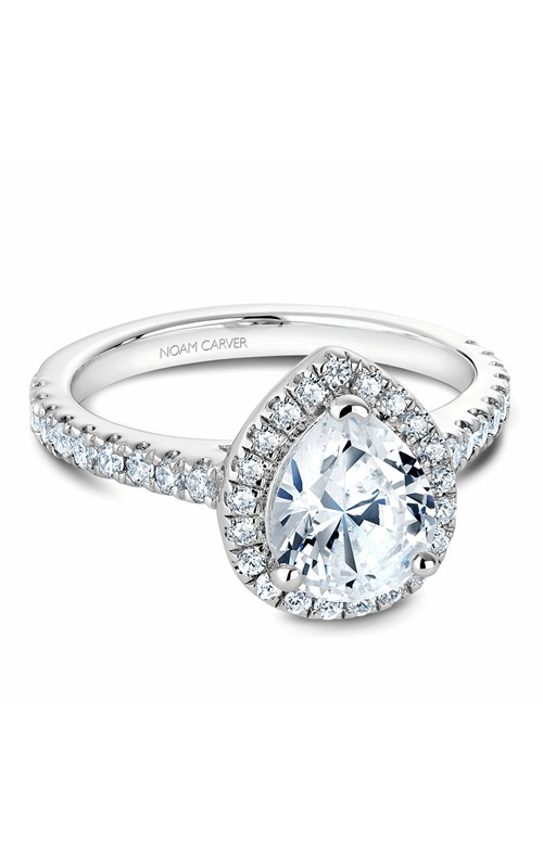 Noam Carver Halo Engagement ring B029-04WM product image