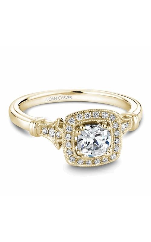 Noam Carver Halo Engagement ring B076-01YM product image