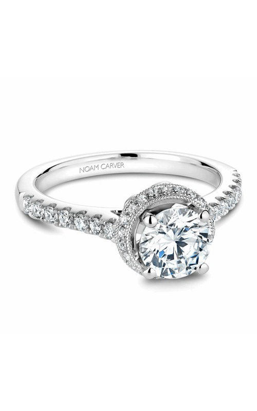 Noam Carver Halo Engagement Ring B082-01WM product image