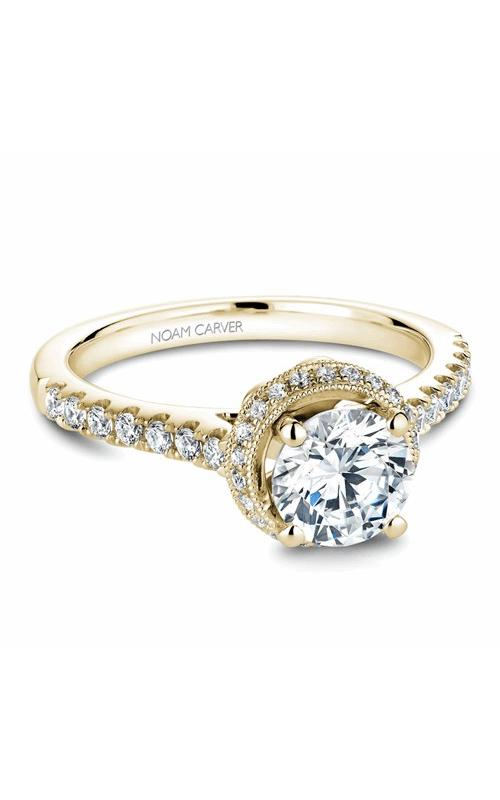 Noam Carver Halo Engagement ring B082-01YM product image